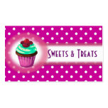 Cupcake Bakery Business Card Purple
