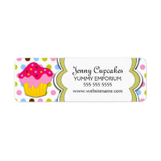 Cupcake Bakery Labels