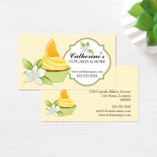 Cupcake Bakery Orange Slice Business Card