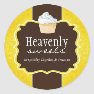 Cupcake Bakery Packaging Stickers