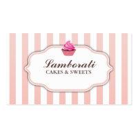 Cupcake Bakery Pink  Cute Elegant Modern Business Card