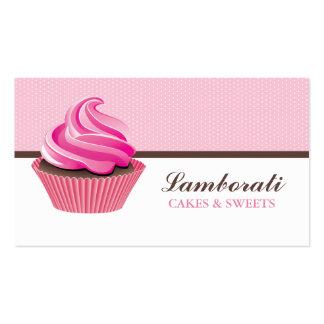 Cupcake Bakery Pink Elegant Modern Cute Pack Of Standard Business Cards