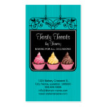 Cupcake Bakery Storefront Sign Business Cards
