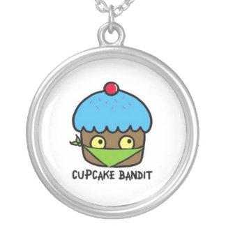 cupcake bandit round pendant necklace