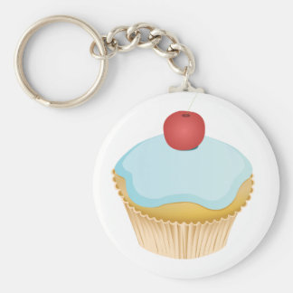 Cupcake Basic Round Button Key Ring