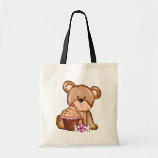 Cupcake Bear tote bag