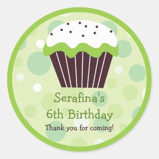 Cupcake Birthday Gift Sticker