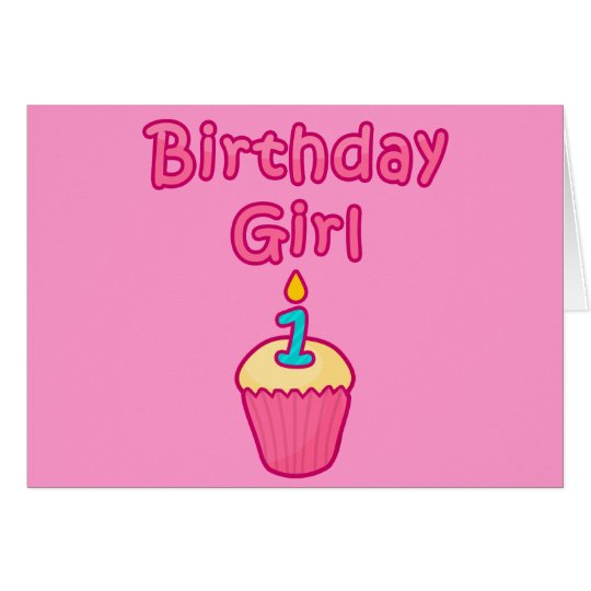 Cupcake Birthday Girl 1 Card