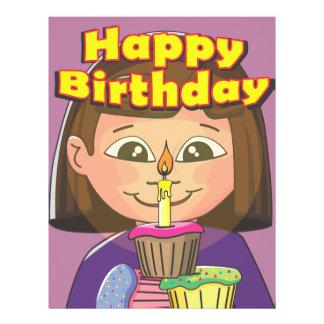 Cupcake birthday girl 21.5 cm x 28 cm flyer