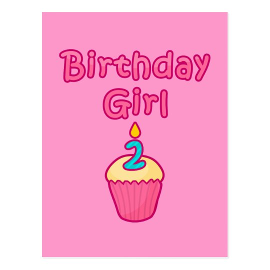 Cupcake Birthday Girl 2 Postcard