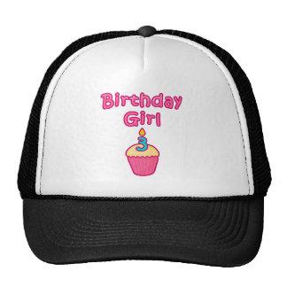 Cupcake Birthday Girl 3 Trucker Hats