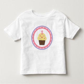 Cupcake birthday t-shirt 2 years old