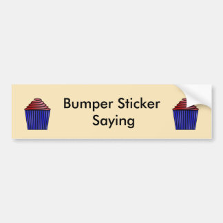 Cupcake Bumper Sticker