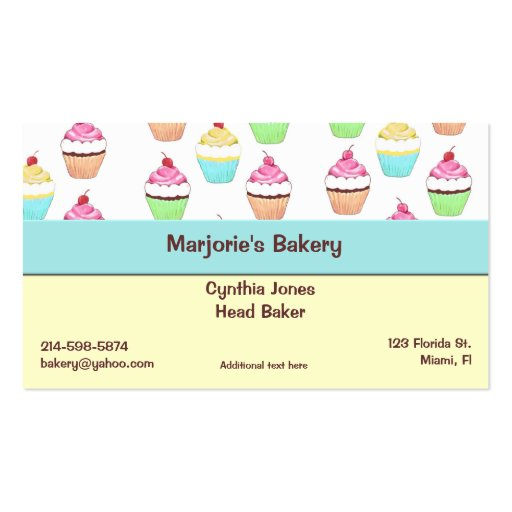 Cupcake business card zazzle for Cupcake business card