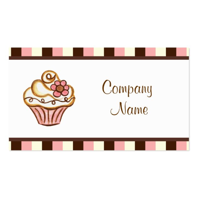 cupcake business card. Black Bedroom Furniture Sets. Home Design Ideas
