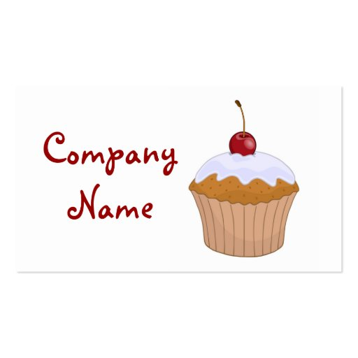 cupcake business card templates zazzle. Black Bedroom Furniture Sets. Home Design Ideas