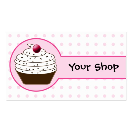 Premium bakery business card templates page19 for Cupcake business card