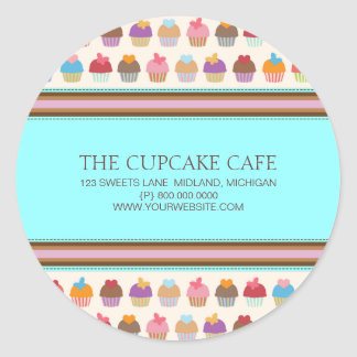 Cupcake Cafe | Bakery Business Stickers