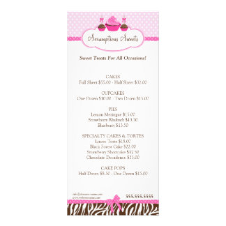 Cupcake Cake Pops Bakery Business Rack Card