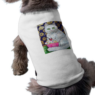CUPCAKE CAT SLEEVELESS DOG SHIRT