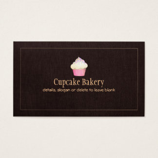 Cupcake Catering Bakery Pastry Chef Business Card