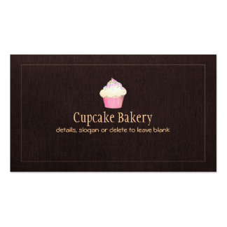 Cupcake Catering Bakery Pastry Chef Pack Of Standard Business Cards
