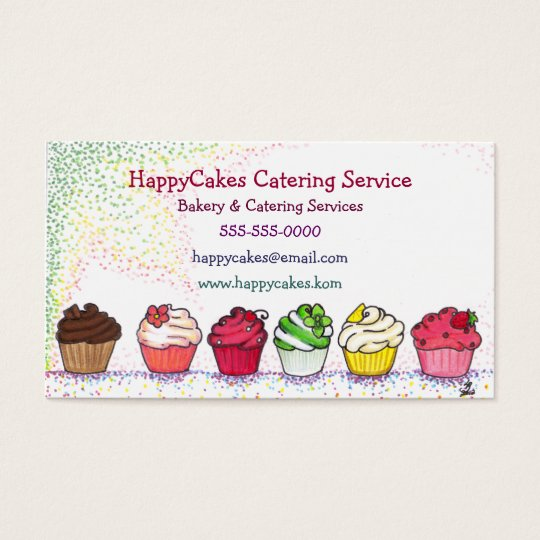 Cupcake Catering Business Card