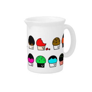 Cupcake Cavalcade – Colorful Repeating Pattern Pitcher