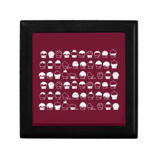 Cupcake Cavalcade – White Repeating Pattern Gift Box