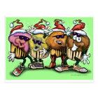 CupCake Christmas Postcard