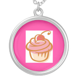 cupcake-clipart round pendant necklace