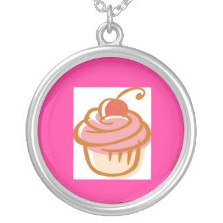 cupcake-clipart round pendant necklace