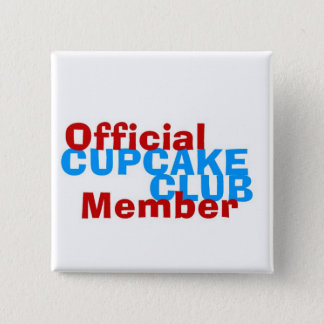 Cupcake Club Official Member 15 Cm Square Badge