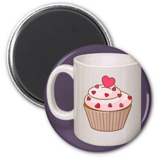 Cupcake Coffee Mug Magnet