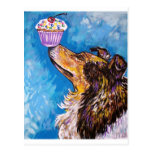 CUPCAKE COLLIE DOG POST CARDS