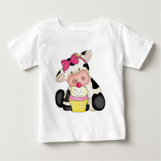 Cupcake Cow baby t-shirt