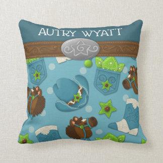 Cupcake Cowboy Personalized Nursery Pillow