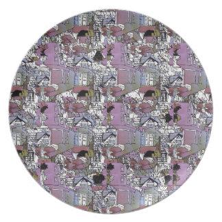 Cupcake Crescent plate