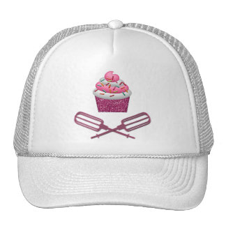Cupcake & Crossed Beaters In Pink Mesh Hat