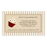 Cupcake Custom Logo, Soft Mocha Stripes Business Cards