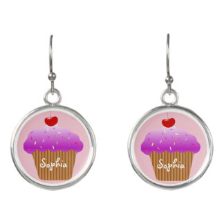 Cupcake Customized Dangle Earrings