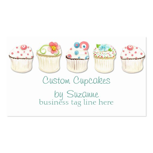 Cupcake Dessert Baking Bakery Business Identity Business Cards