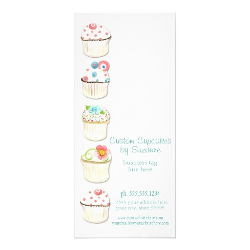 Cupcake Dessert Baking Bakery Business Identity Rack Cards
