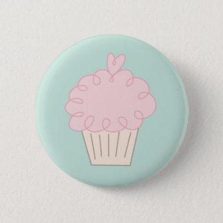 Cupcake doodle 6 cm round badge