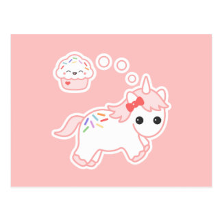 Cupcake Dream Unicorn Postcard