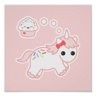 Cupcake Dream Unicorn Poster