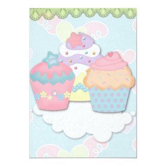 cupcake dreams personalized invitation
