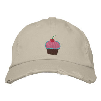 Cupcake Embroidered Hats