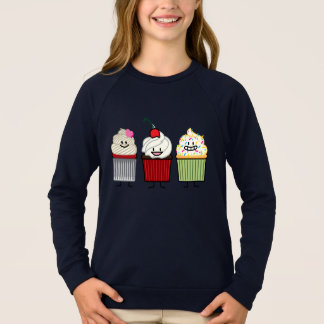 Cupcake family icing sprinkles cherry cakes heart sweatshirt