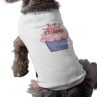 Cupcake For A Princess Sleeveless Dog Shirt